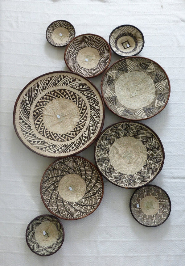 9 x Basket Group for Scarlett - African Wall Baskets, Binga Basket ZB1