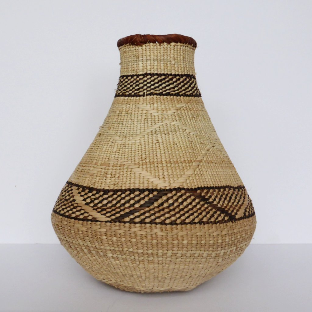 "Binga Calabash Basket 29cm (11 1/2"") high - Medium Handmade, African Basket, Vase - CB10"