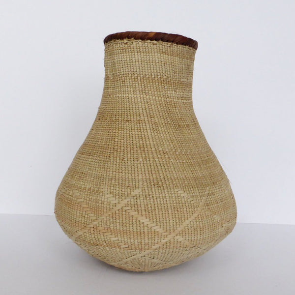 "Binga Calabash Basket 30cm (11 3/4"") high - Medium Handmade, African Basket, Vase - CB12"