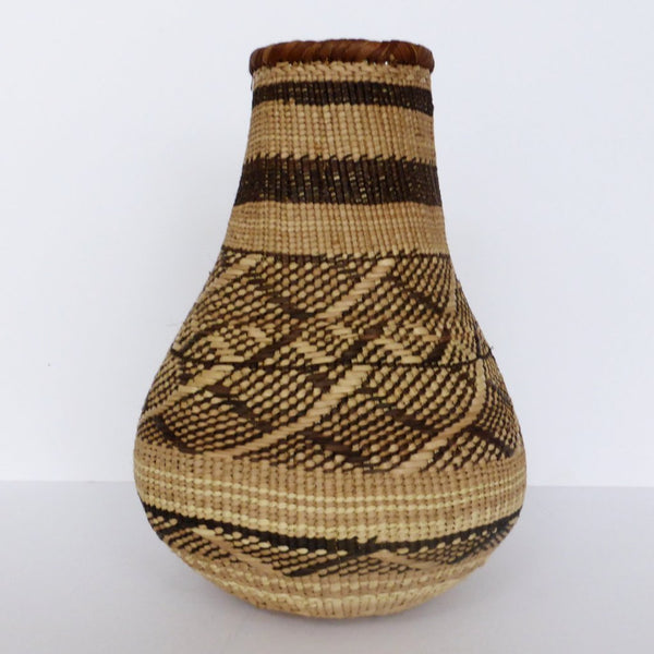 "Binga Calabash Basket 29cm (11 1/2"") high - Medium Handmade, African Basket, Vase - CB9"