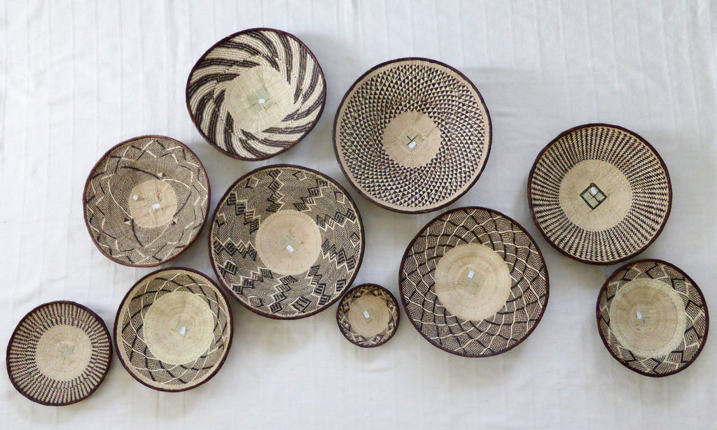 10 x Binga Baskets for Miranda - African Basket, Woven Basket, Eclectic Decor, Boho, Handmade, ZB