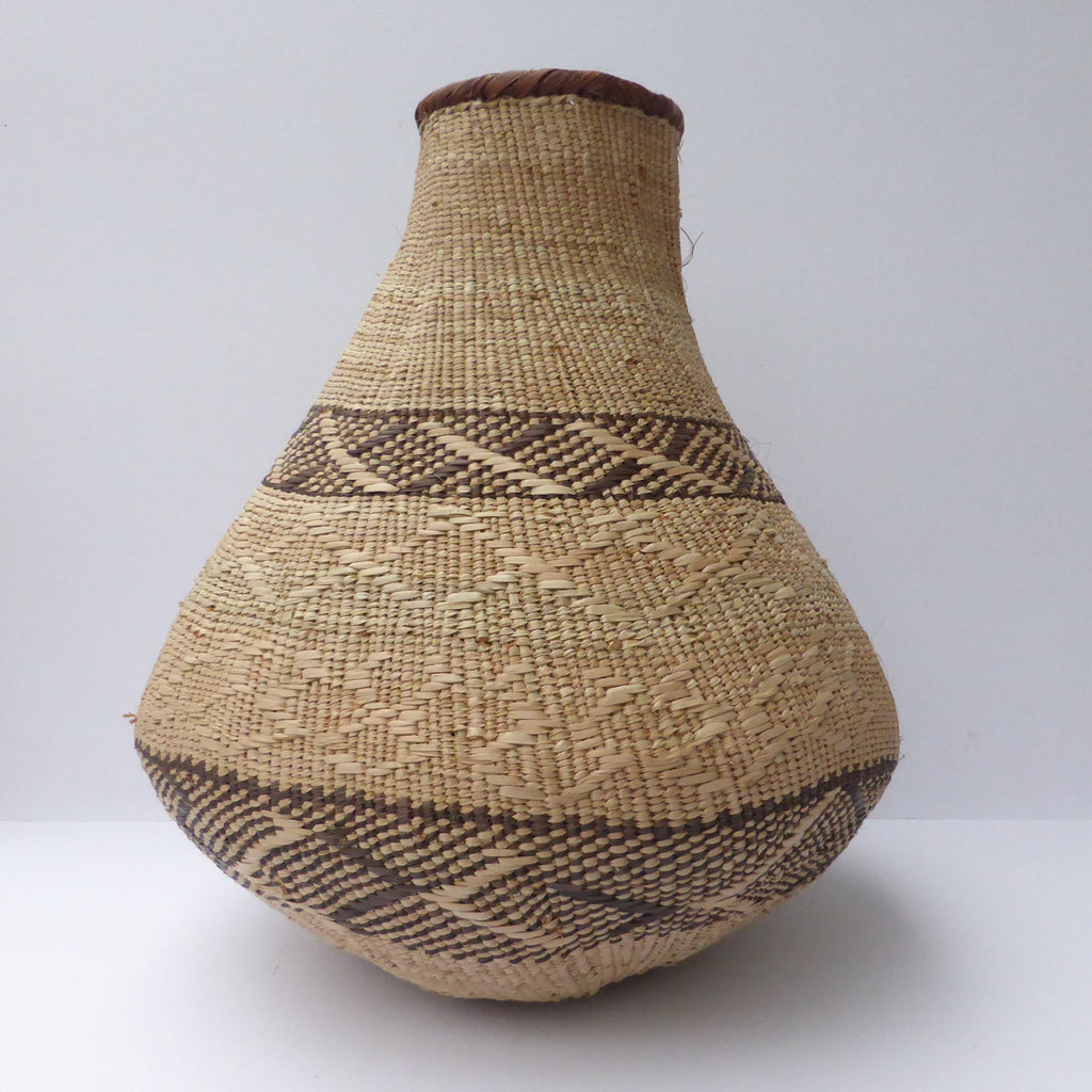 "Binga Calabash Basket 36cm (14"") high - Medium Handmade, African Basket, Vase - CB28"