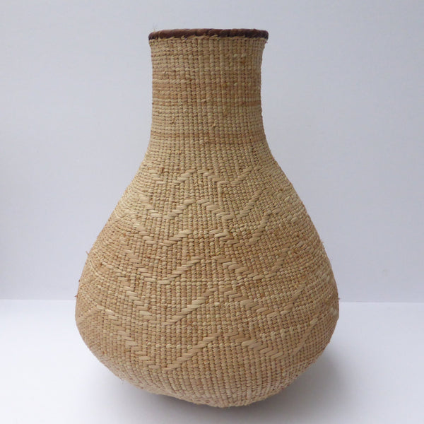 "Binga Calabash Basket 35cm (13 3/4"") high - Medium Handmade, African Basket, Vase - CB26"
