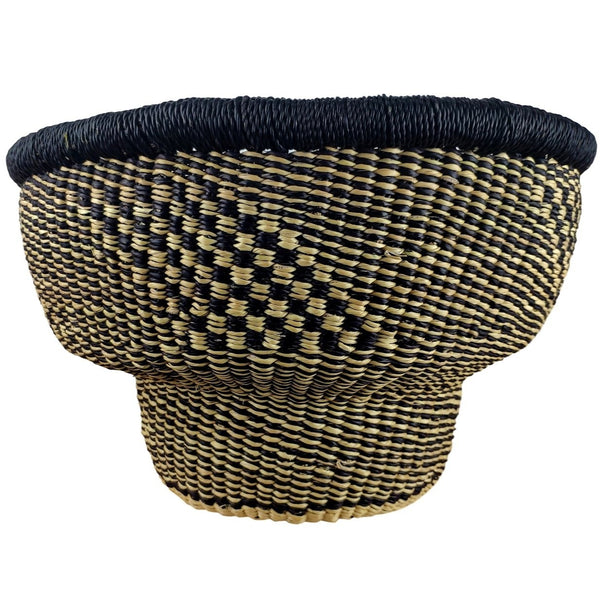Baba Tiny Drum Basket - African Bolga Basket, Ethnic - BABATD6