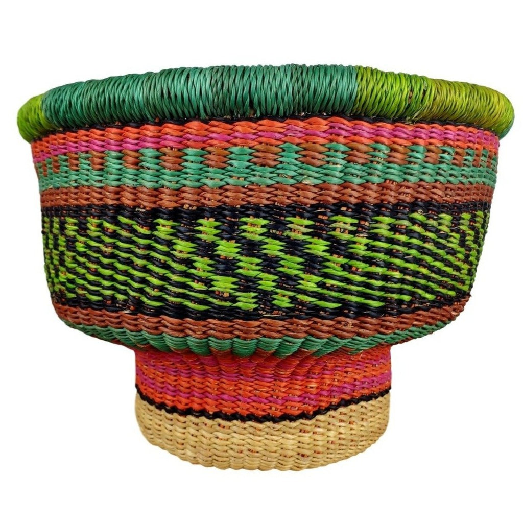 Baba Tiny Drum Basket - African Bolga Basket, Ethnic - BABATD7