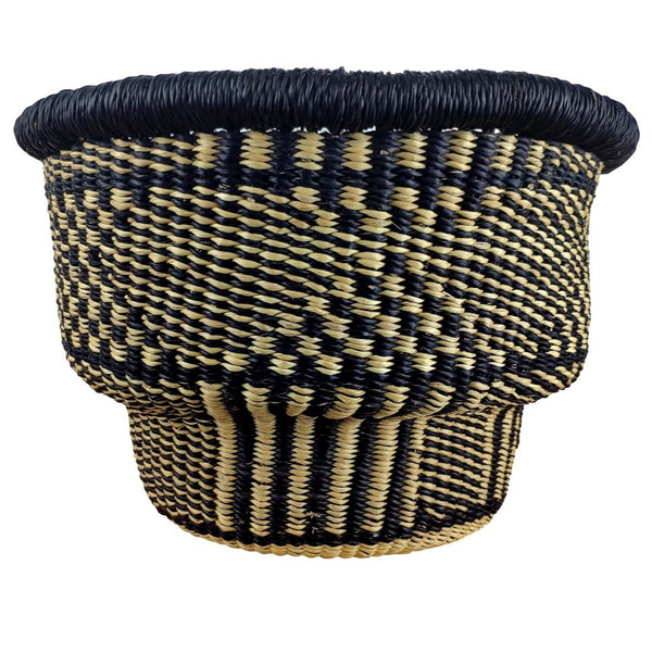 Baba Tiny Drum Basket - African Bolga Basket, Ethnic - BABATD8