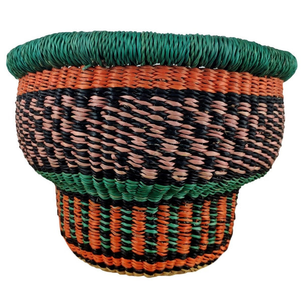 Baba Tiny Drum Basket - African Bolga Basket, Ethnic - BABATD9