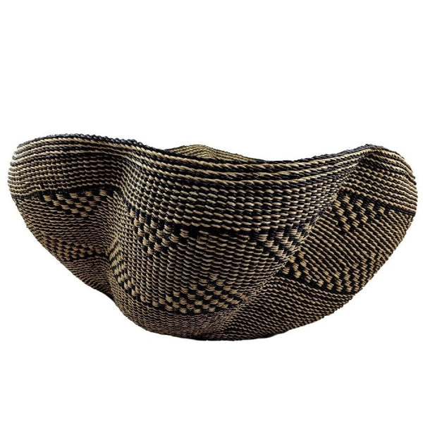 Pakurigo Wave Basket from Ghana - Bolga Basket, Storage BABAPW26