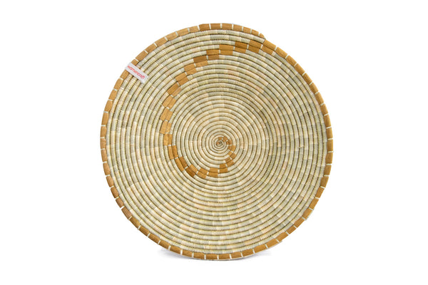 Konokono 30cm - WomenCraft Tanzania Brown Wall Baskets - Natural & Recycled Collection