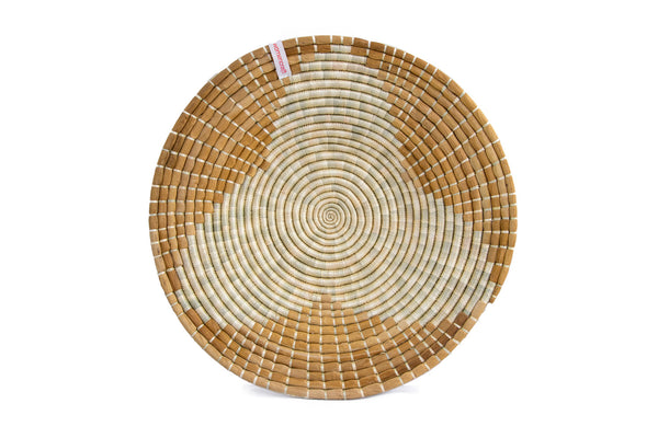 Maua 40cm - WomenCraft Tanzania Brown Wall Baskets - Natural & Recycled Collection