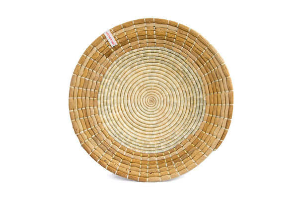Pete 40cm - WomenCraft Tanzania Brown Wall Baskets - Natural & Recycled Collection