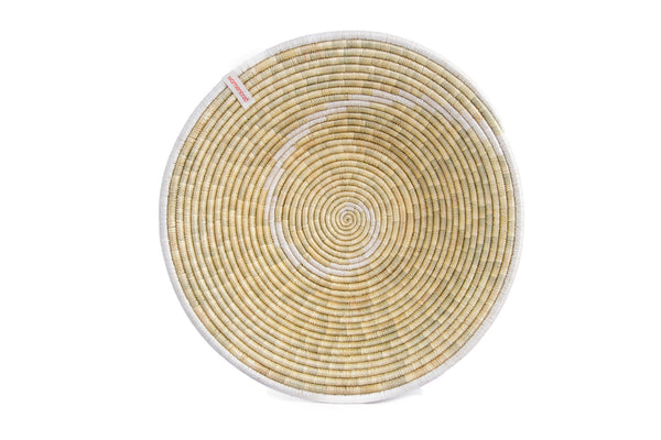 Konokono 40cm - WomenCraft Tanzania White Wall Baskets - Natural & Recycled Collection