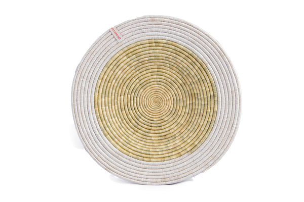 Pete 30cm - WomenCraft Tanzania White Wall Baskets - Natural & Recycled Collection