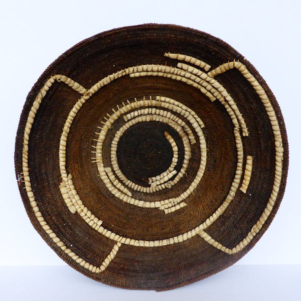 "Antique Zambian Makenge Basket 46cm (18"") - African Basket, Woven Basket, Wall Basket - Mak12"