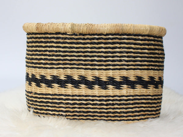 African Basket, Bolga Bicycle Basket from Ghana, Panier