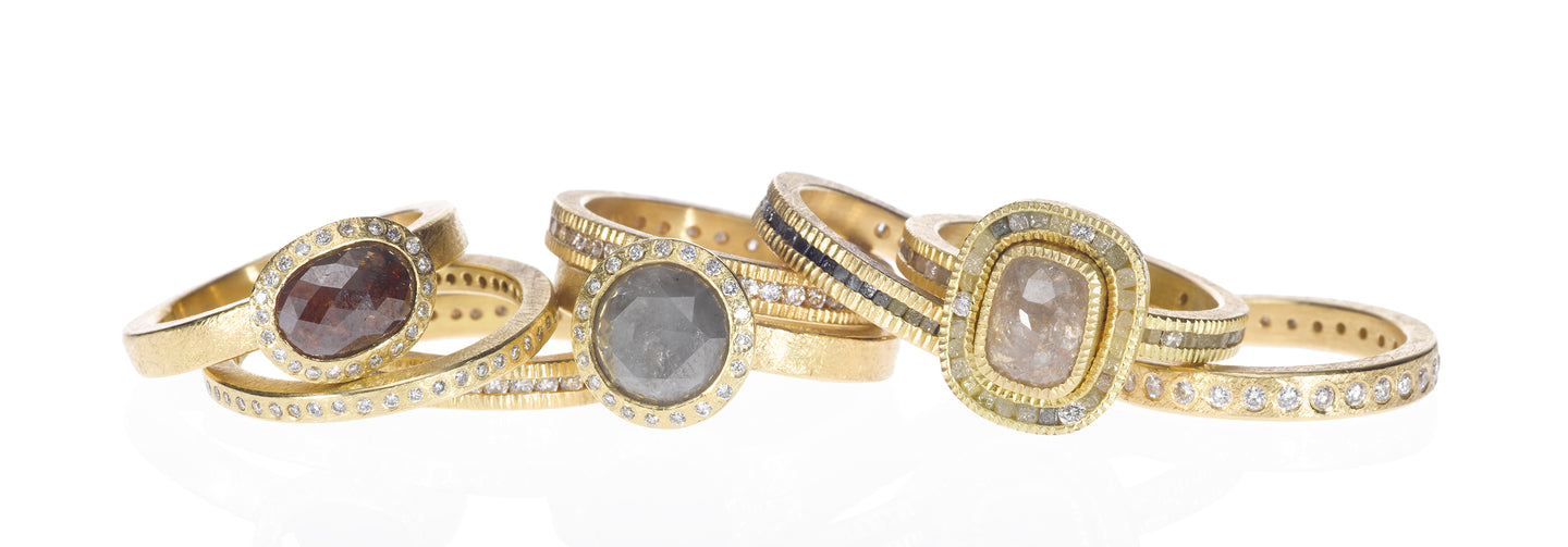 Rough Diamond Rings and Organic Styles