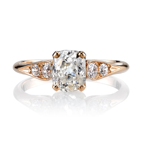 Vintage Style Engagement Ring by Single Stone