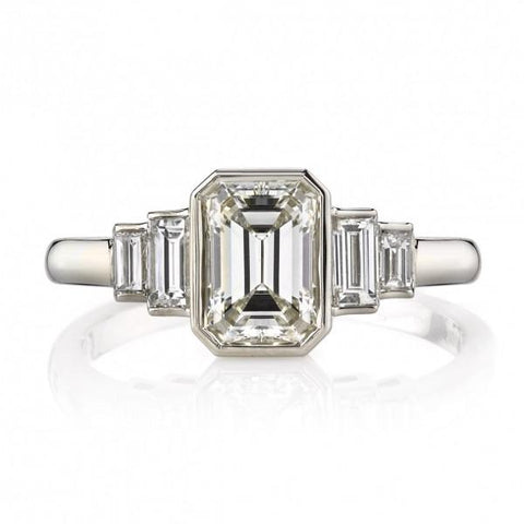 Art Deco Style Engagement Ring by Single Stone