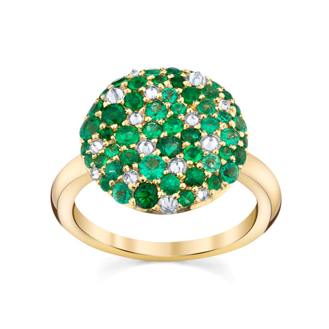 Emerald/Diamond Ring