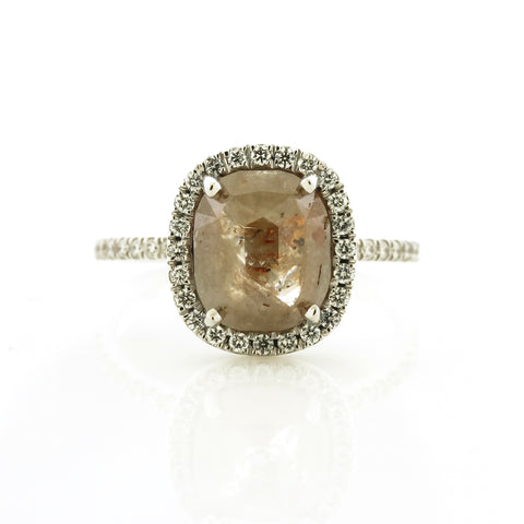 Rustic Diamond Ring by Harold Stevens