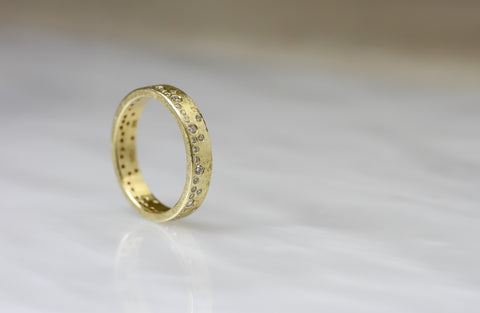Todd Reed Yellow Gold Diamond Band