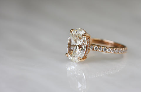 4 Carat Oval Diamond Ring by Harold Stevens