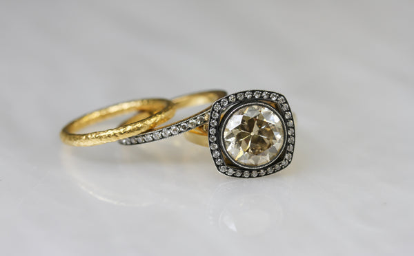 Vintage Ring Stack by Single Stone
