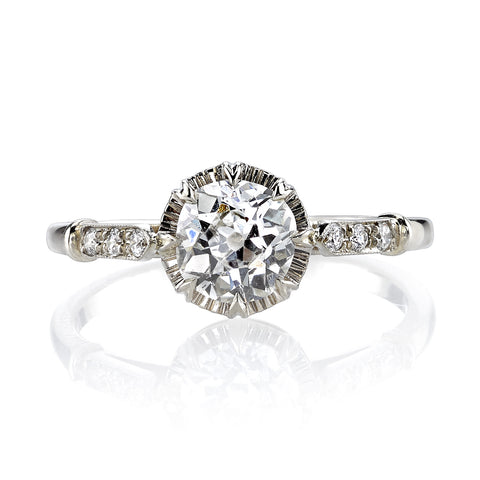 Vintage Inspired Diamond Engagement Ring with 2.06 Carats
