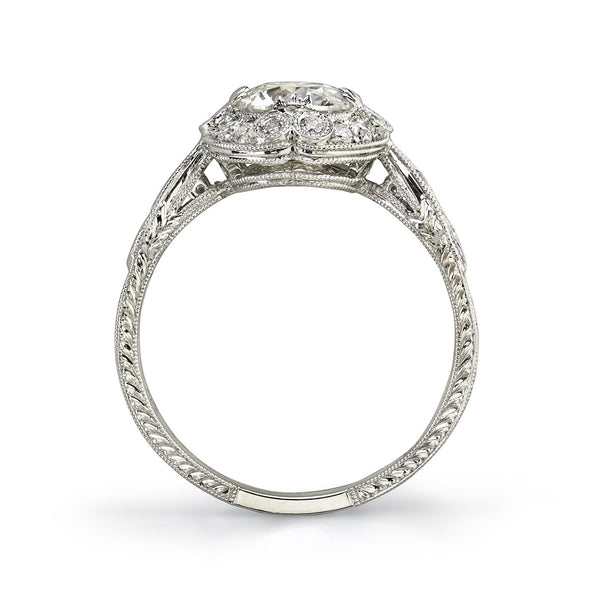 Single Stone Vintage Inspired Engagement Ring