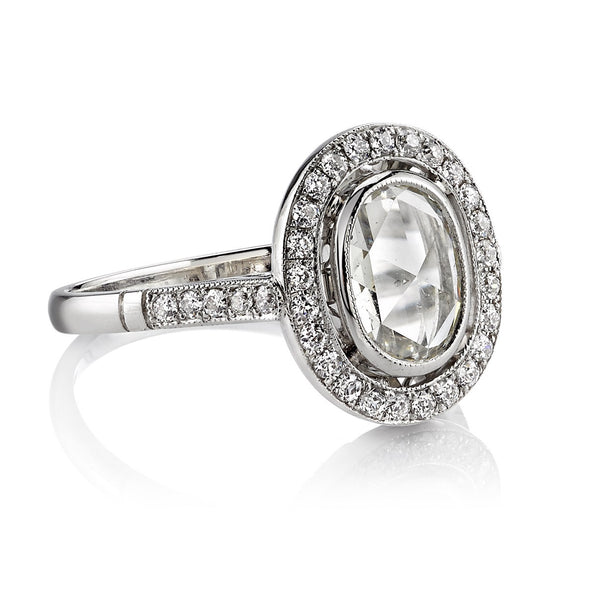 Single Stone Vintage Inspired Rose Cut Diamond Ring