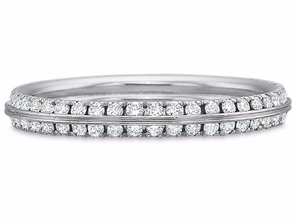 White Gold Double-Row Diamond Eternity Band