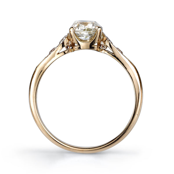 Single Stone Vintage Cushion Engagement Ring