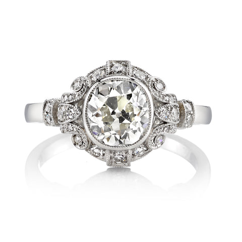 Single Stone Vintage Cushion Cut Diamond Engagement Ring