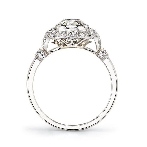 Single Stone Vintage Cushion Cut Engagement Ring
