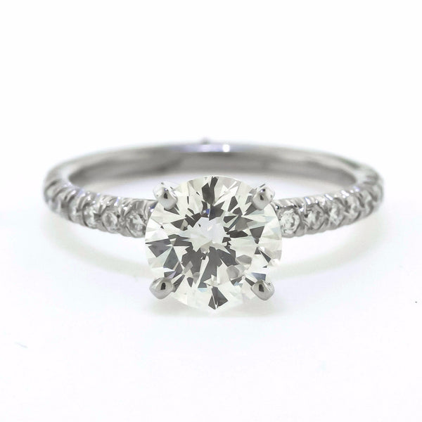 Platinum Diamond Solitaire Engagement by Harold Stevens
