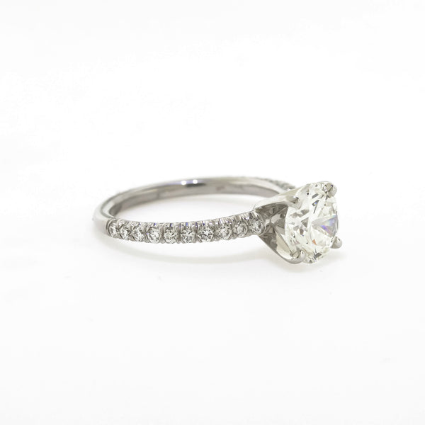 Platinum 1.96 CTTW.  Diamond Engagement Ring