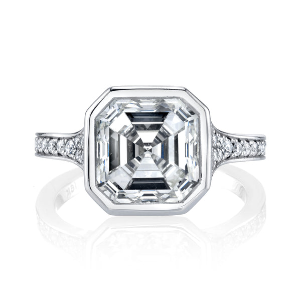4.20 Asscher Cut Diamond Ring