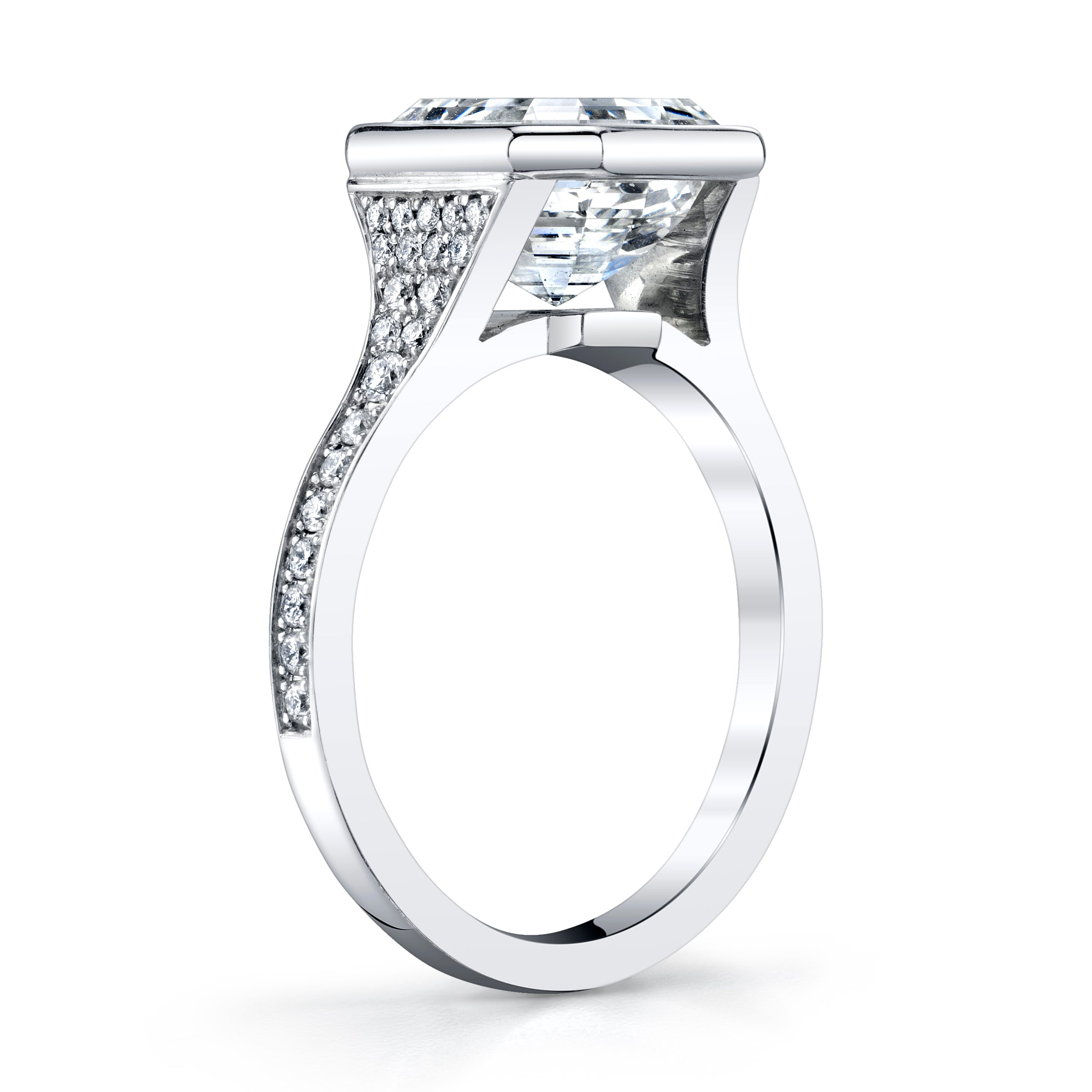 4.20 Asscher Cut Diamond Engagement Ring