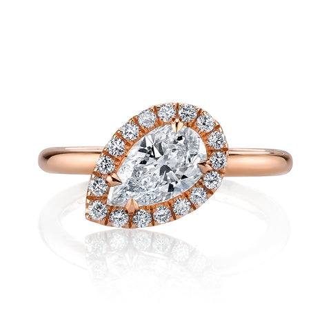 Pear-Cut Diamond Ring Setting