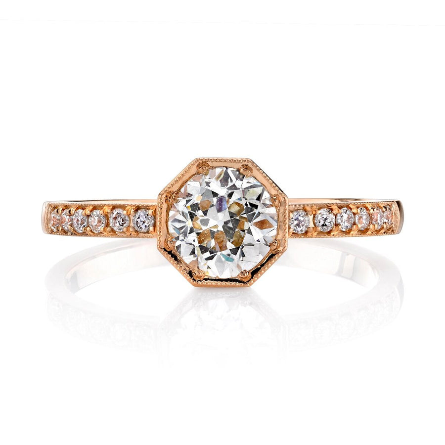 Single Stone Art Deco Inspired Engagement Ring
