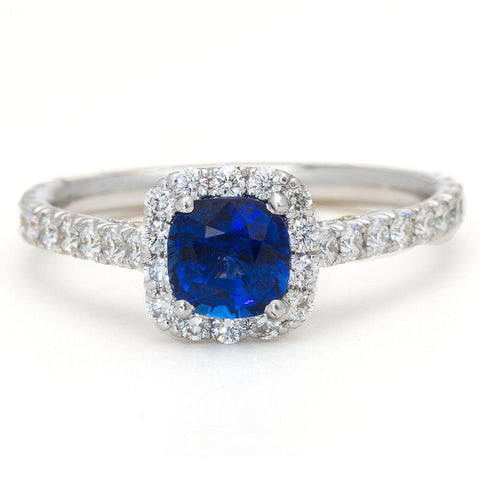 Blue Sapphire Engagement Ring by Harold Stevens