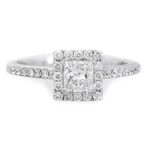 Square Princess Cut Engagement Ring