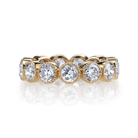 Single Stone Old European Cut Eternity Band