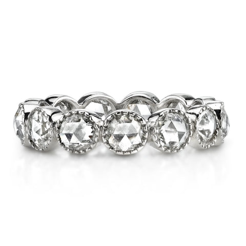 Single Stone Rose Cut Eternity Band