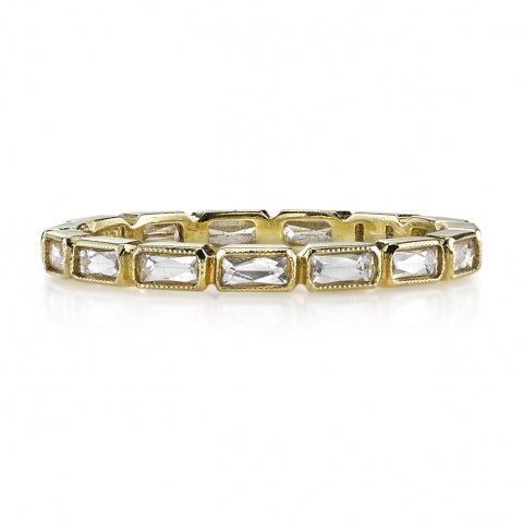 Single Stone French Cut Eternity Band