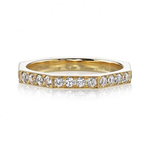 Single Stone Diamond Eternity Wedding Band