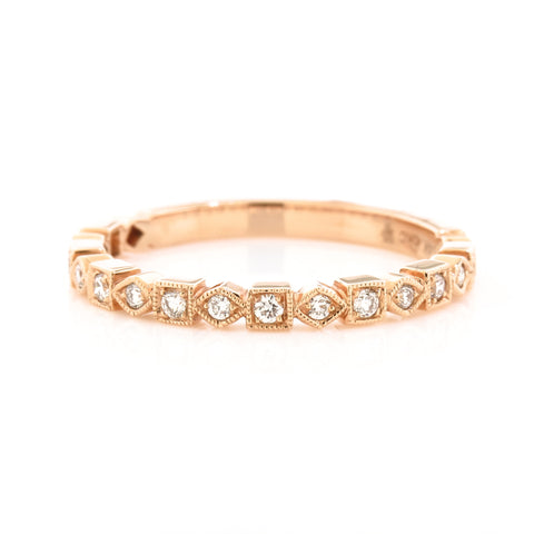 Rose Gold Diamond Band