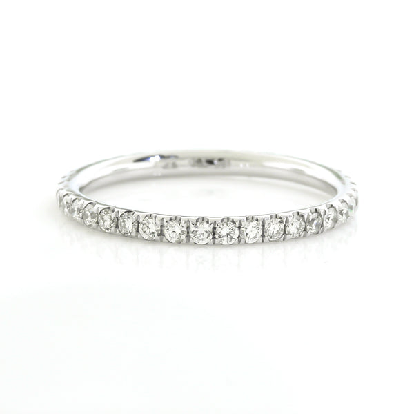 White Gold Diamond Eternity Band by Harold Stevens