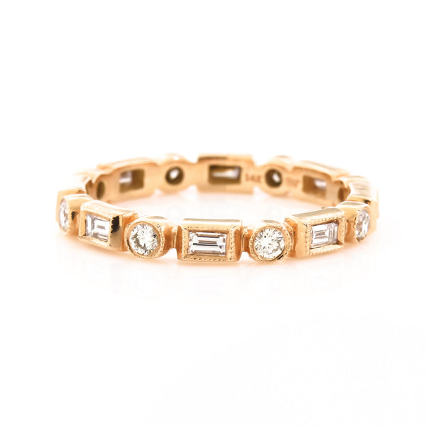 Beverly K Rose Gold Diamond Eternity Band