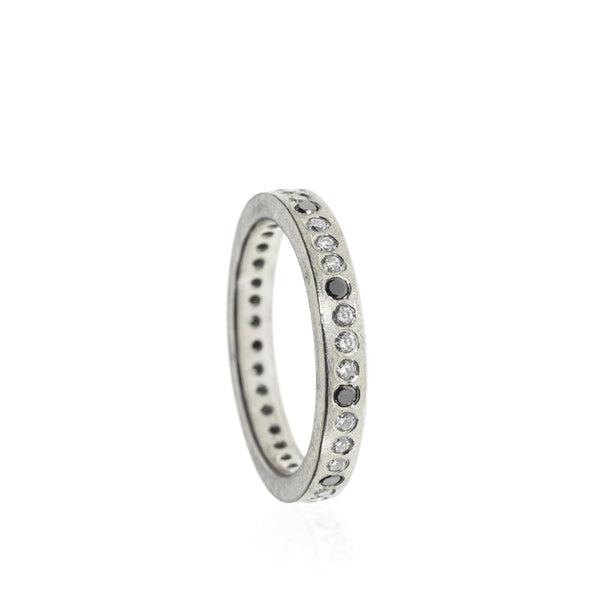 Todd Reed Black & White Diamond Eternity Band